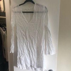 Riva white linen tunic